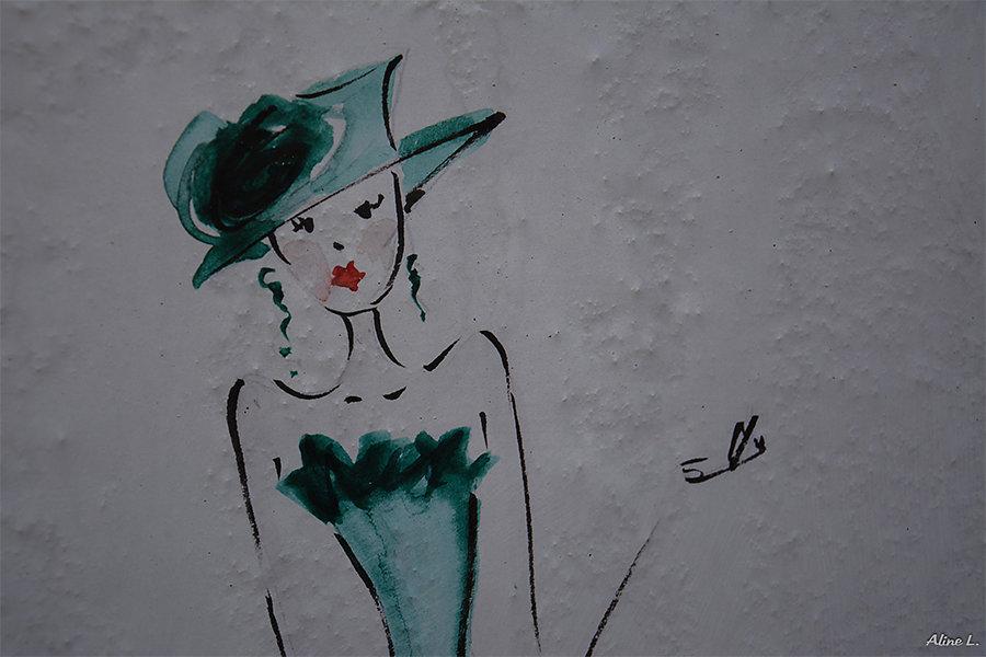 Aline - La demoiselle en vert